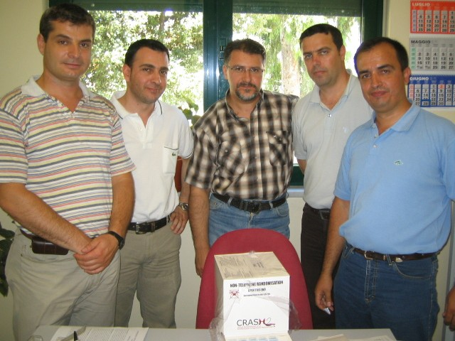Team in Albania with drug box